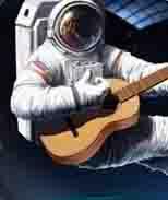 """космонавт играет на гитаре песню """"земля в иллюминаторе"""""""