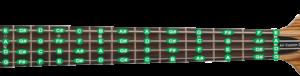 Расположение нот на грифе 4-струнной бас-гитары