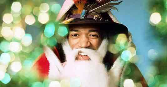 Джими Хендрикс в образе Санта-Клауса