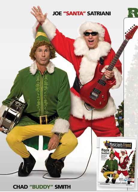 Joe Satriani(Джо Сатриани) в образе Санта-Клауса