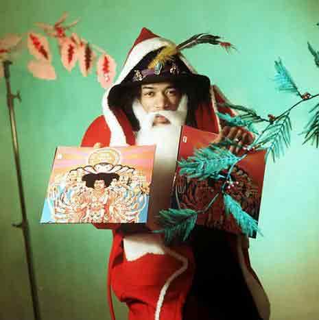Jimi Hendrix(Джими Хендрикс) в образе Санта-Клауса