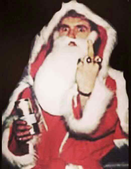 Lemmy(Лемми) в образе Санта-Клауса