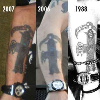 татуировка у Axl Rose (он же Уильям Брюс Бэйли Младший)