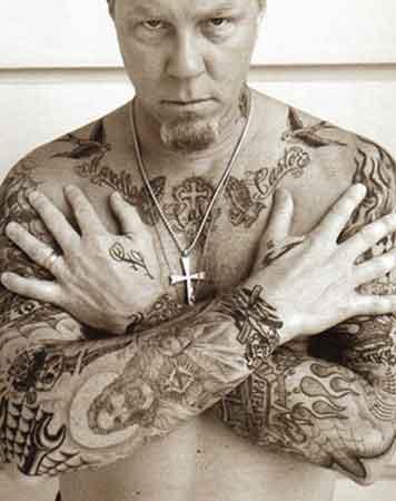 James Hetfield(Джеймс Хэтфилд) Металлика и его татуировки