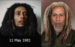 Боб Марли в молодости и в старости