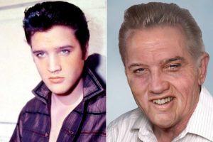 Элвис Пресли в молодости и в старости
