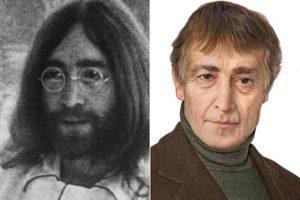 Джон Леннон в молодости и в старости