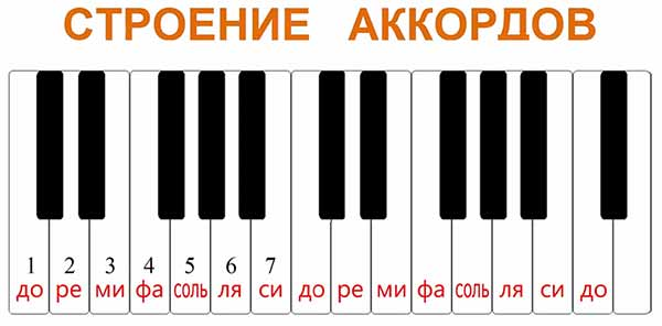 фрагмент фортепианной клавиатуры состоящей из двух октав