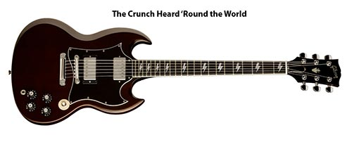 Ангус предпочитает гитары Gibson SG