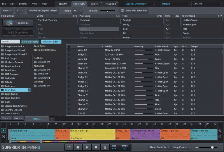 Superior Drummer 3 - грувы(grooves)