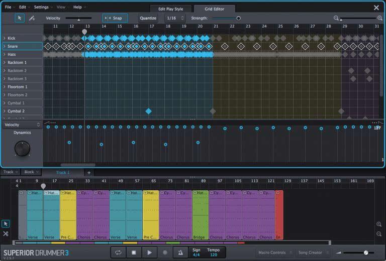 Superior Drummer 3 - Grid Editor