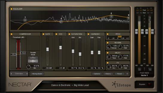 iZotope Nectar 2 - режим Overview