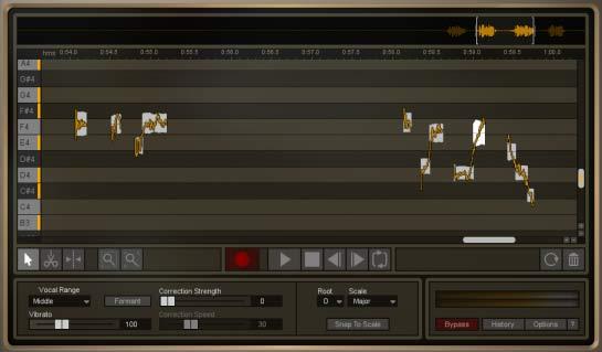 iZotope Nectar 2 - плагин Pitch Editor