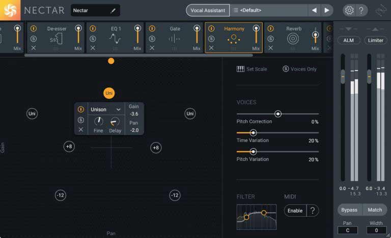 iZotope Nectar 3 - процессор гармонизации